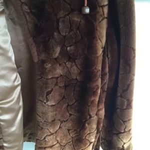 Jackets & Coats - Stunning Sheared Mouton with Fox Tails on the Belt